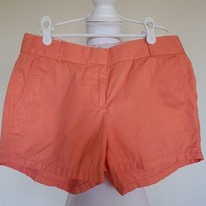 J. Crew orange shorts